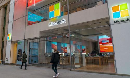 A Microsoft store.